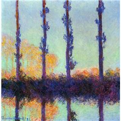 Claude Monet - Four Poplars