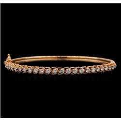 14KT Rose Gold 1.59 ctw Diamond Bracelet