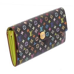 Louis Vuitton Black Multicolore Monogram Sarah Wallet