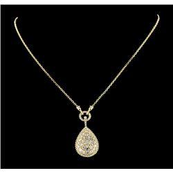 3.02 ctw Diamond Necklace - 14KT Yellow Gold