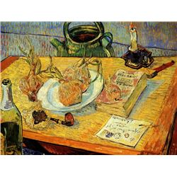 Van Gogh - Still Life Drawing Board Pipe Onions And Sealing-Wax