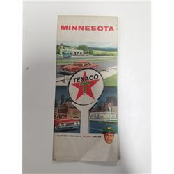 1962 Texaco Touring Map of Minnesota