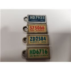 Vintage War Amps Key Tags x4