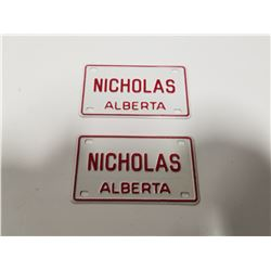 Vintage Alberta Novelty License Plates x2