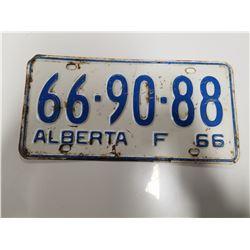 1966 Alberta Farm License Plate