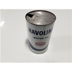 Texaco Havoline Motor Oil Quart Tin