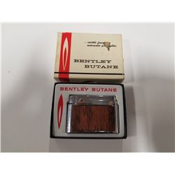 Vintage Bentley Butane Lighter with Original Box