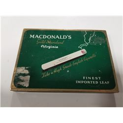 Macdonald's Gold Standard Virginia Flat Pack Cigarette Tin