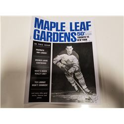 Photocopied Signed Maple Leaf Gardens Official Programme & Sports Magazine