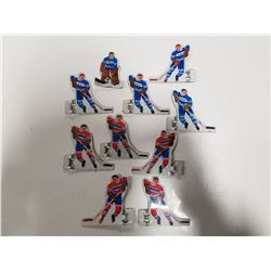 Lot of 10 Vintage Tin Hockey Players