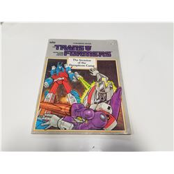 1986 Transformers Marve Coloring Book: The Invasion of the Deception Camp
