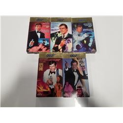 Lot of 5 Roger Moore as James Bond VHS Films