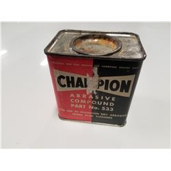 Champion Spark Plug Cleaner Vintage Tin