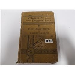 1885 Elementary Arithmetic Book