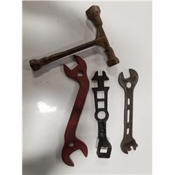 Lot of 4 Unique Implement Farm Wrenches