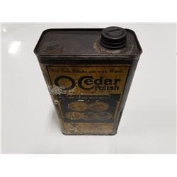 O-Cedar Polish Rectangular Quart Tin