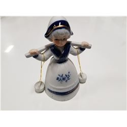 Dutch Water Carrier Porcelain Bell
