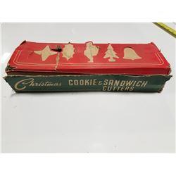 Christmas Cookie & Sandwich Cutters Vintage Set
