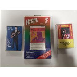 Lot of 3 Elvis Presley Cassette Tapes