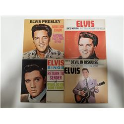 Lot of 4 Elvis Presley 45s Records - Collector's Series