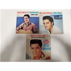 Lot of 3 Elvis Presley 45s Records - Collector Series