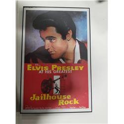 """Elivs Presley Framed Poster Print - """"Elvis Presley at His Greatest Jailhous Rock"""""""