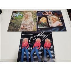 Lot of 3 1970s Dolly Parton (33)Vinyl Records