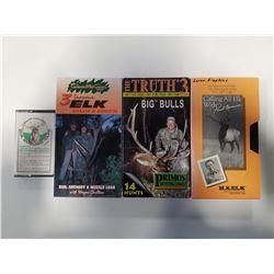 Lot of 3 Elk Hunting VHS & 1 Cassette