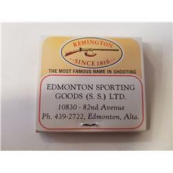 Vintage Remington/Edmonton Sporting Goods Matchbook Advertising