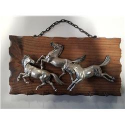 Vintage Key Rack - Running Horses