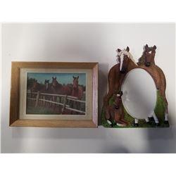 """Vintage Framed """"Hologram"""" Horse Photo & 3x5 Horse Picture Frame"""