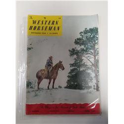 The Western Horseman Magaine - November 1956