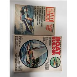 Lot of 2 Boat Builder Magazines