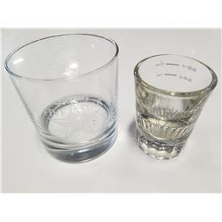Pair of Vintage Seagrams Whiskey Glasses