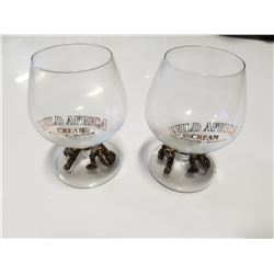 Pair of Vintage Wild Africa Cream Liqeur Glasses