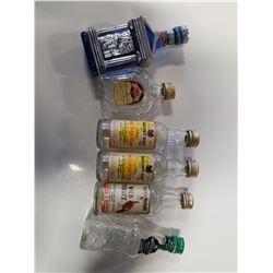 Lot of 6 Older Mini Liquor Bottles