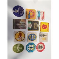 Lot of 12 Vintage Bar/Drink Coasters
