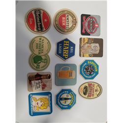 Lot of 12 Vintage Drink/Bar Coasters