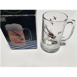 1984 Avon Beer Mug - Ducks in Flight