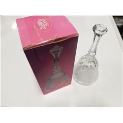 24% Lead Crystal Glass Dinner Bell with Original Box