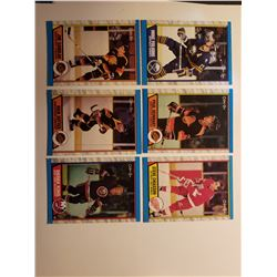 Lot of 6 1989 O-PEE-CHEE Hockey Cards