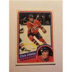 1984 O-PEE-CHEE #259 Chris Chelios Rookie Card #259