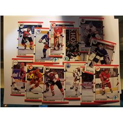 Lot of 12 1990 Score Hockey Cards
