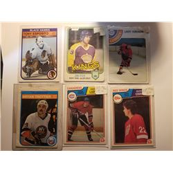 Lot of 6 1978-1983 O-PEE-CHEE Hockey Cards