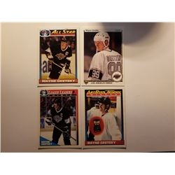 Lot of 4 Wayne Gretzky Cards - Los Angeles Kings