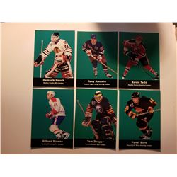 Lot of 6 1992 Parkhurst Rookie Hockey Cards