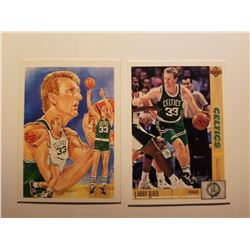 Lot of 2 Larry Bird Basketball Cards