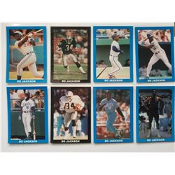 Lot of 8 Bo Jackson Cards: Football and Baseball