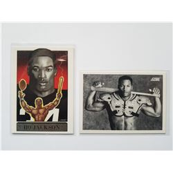 Lot of 2 Rarer Bo Jackson Football and Baseball Cards in protectors
