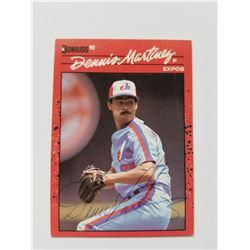 Dennis Martinez 1990 Donruss #156 Autographed